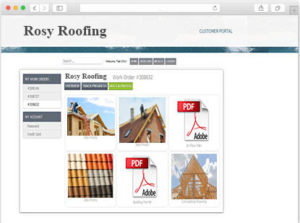 Roofing Software Customer Portal