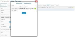 CRM Document Upload