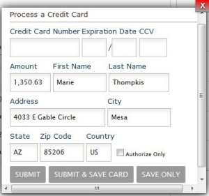 Point of Sale Credit Card