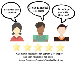 Customers Remember the Service More Than the Price