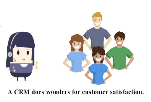A CRM does wonders for customer satisfaction.